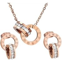 316L Stainless  Steel Jewelry Set Women Stainless Steel Necklace and Earring