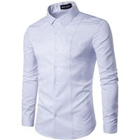 High grade custom casual mens long sleeve blank slim fit dress shirts