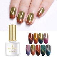 BORN PRETTY 6ml Thermal Magnetic Gel Polish Soak Off Nail Art Color Changing Varnish Cat Eye UV Gel Polish