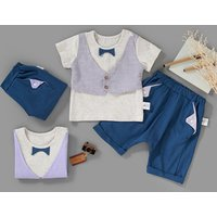baby boys clothes sets OEM service  2pcs summer clothes suit children gentleman clothing sets cute baby clothing set
