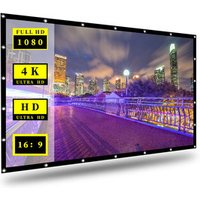 Rear projector screen with waterproof function  crease-free 120 Inch Portable foldable Non-crease White Projection Curtain
