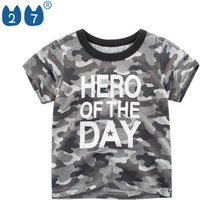 Wholesale New Summer Cotton Camouflage Kids Clothing Boys T Shirts