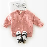 Baby Girl Knit Cardigan Sweater Infant Button Down Woollen Sweater Baby Girls Open Front Cardigan Toddler Spring Fall Outerwear