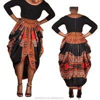 DH6615 High quality puffy bottom women noble cotton dashiki kaftan long dress