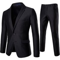 High Quality Slim Fit 2 Piece Wholesale Custom Navy Lapel Collar Flap Pocket Men Suit