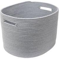 Large Cotton Rope Handle Laundry Leather Handle Food Storage Basket