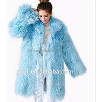 YR659 Star fashion design popular women Real Mongolian lamb fur coat