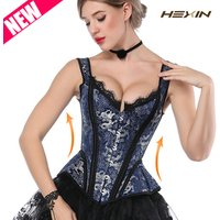 Steampunk Corsets And Bustiers Gothic Style Corset 14 Steel Bone Polyester Top Sexey Sliming Bodyshaper Overbust