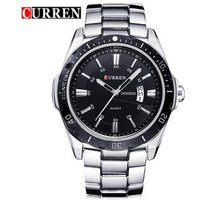 CURREN 8110 Men Fashion Date Calendar Business Watches Military stainless steel Luxury Wristwatches Men Dress Quartz Watch
