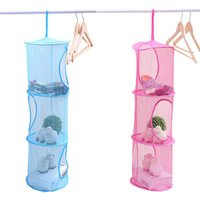 3 Layers Toys Storage Organizer Ornaments Hanging Mesh Bag Foldable Underwear Basket Multifunction Sundries Baskets