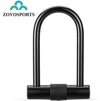 ZOYOSPORTS Anti-Theft Security Road Mountain Cycle Bicycle Key Lock Safe Alloy Steel U Shaped Bike Lock