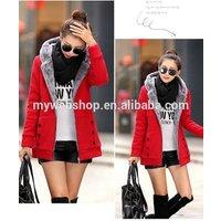 Thicker Autumn Winter Women Long Hooded Coat
