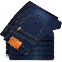 New cotton Jeans Men Regular pants High Quality Famous Brand Denim trousers soft mens pants mens fashion Large Big size  male