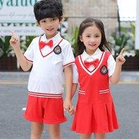 Modern dress shirts suits children cotton kid primary school uniform designs