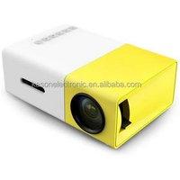 2years warranty YG300 LED Portable Projector 500LM 3.5mm Audio 320x240 Pixel HD MI USB Mini YG-300 Home Media Player