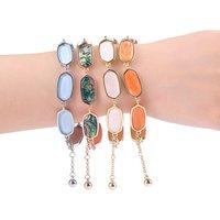 sl0014d Free Shipping Resin Designs Handmade Custom Charm Gold Wholesale Fashion Women MOP Shell Bracelet Jewelry