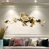 Home inner luxury decorative metal finished hanging wall art decor
