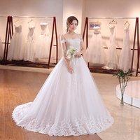 Wholesale China Quality Wedding Dress Spaghetti Strap Long Bridal Ball Gown