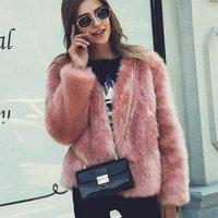 Winter new fox fur coat ladies short faux fur plush top