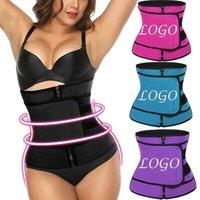 Feelingirl Dropship Custom Logo Neoprene 4 Color Sweat Women Waist Trainer Corset For Loss Weight