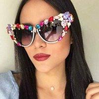 Oversize Cat Eye Sunglasses Women Brand Designer Luxury Crystal Sexy Sun Glasses For Ladies Oculos De Sol Feminino