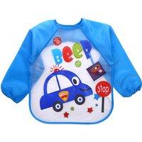 Long Sleeve Waterproof Feeding Baby Bibs For Lunch Baberos Bebes Cartoon Baby Clothing baby apron Waterproof 0-2 Years
