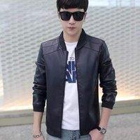 2019 Autumn Winter Men PU Leather Coat Korean Slim Fit Leather Jackets Fashion men Casual jacket