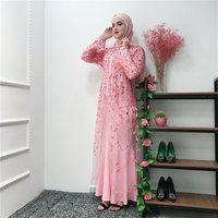 Luxury Muslim Embroidery Abaya Full Dress Cardigan Kimono Hollow Out Long Robe Gowns Jubah Middle East Eid Ramadan Islamic