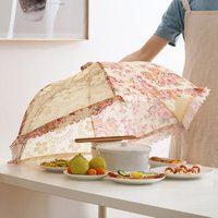 Big Size Umbrella Style Hexagon Gauze Mesh Food lace Covers Meal Table Cover Anti Fly Mosquito Kitchen Gadgets Cooking Tools
