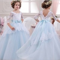 Best Selling Product Wedding Party Floral Summer Princess Baby Fancy Frock Boutique Cloth Guangzhou Clothing Flower Girl Dress