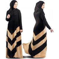 2019 patchwork z-shaped Abaya Long Muslim Evening Gown Dress For Women