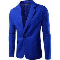 Men big size 8 solid colors single breasted slim fashion suit with wholesale price