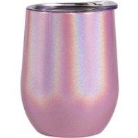 360ml 12oz stainless steel wine tumbler coffee mug wine glass 304 double wall with sliding lid