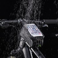 2019 new fashion custom logo outdoor sport mountain cycling storage bag bicycle carry phone bag waterproof bike frame bag