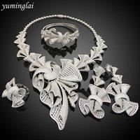 Costume Women Bridal Wedding AAA AD Earrings Cubic Zirconia Costume Jewelry American Diamond Jewellery Imitation Wedding Set