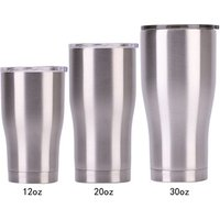 '20oz 600ml  Curve Tumbler Stainless Steel  Double Wall Insulate Mug Travel Tumbler Cup With Slid Lid