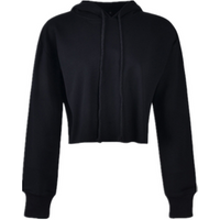 Wholesale Custom Plain Girls Pull Over Crop Top Sweatshirts Hoodies For Women