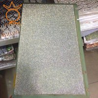 Wholesale hot fix 3*7 glass rhinestone sticker adhesive sheet 24*40cm for lady shoe upper