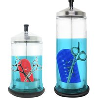 professional hot sale salon sterilization jar barber disinfectant glass bottle sterilizer jar