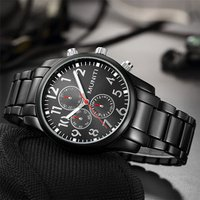 Shenzhen MUNITI Men Wristwatch Brands Popular Quartz Watches Stainless Steel wrist watch with cheap price