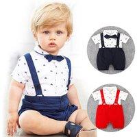 DH031 wholesale children clothes newborn baby boys clothing set