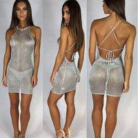 Net Beach Swimsuit for Women Sleeve Cover ups Bikini Bodycon Cover up