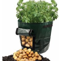 7 Gallon Garden Potato Grow Bag Vegetables Planter Bags with Handles and Access Flap for Grow Vegetables