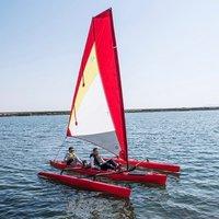 18ft trimaran fin drive sailing kayak