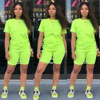Summer sport custom neon green women designer track jogging suit