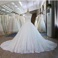 Muslim Designs Wedding Dresses Bridal Ball Gown 2018 See Through Lace Pattern Sleeveless Wedding Dress