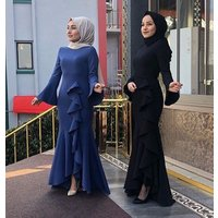latest abaya designs 2019 muslim long Splicing dress kaftan dress