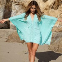 Beach KimonoJacket Women Dresses Swimsuit Cover Up Cotton Sarong Kaftan Swimwear Dress