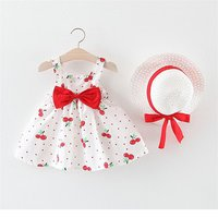 baby pretty sets summer cotton baby floral childrens clothing with hat