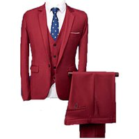 'Slim Fit Dinner Suit In Blue/red Men Suits 3 Pieces